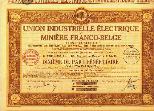 Union Industrielle Electrique et Miniere Franco-Belge (Unifrabel)
