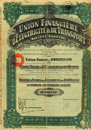 Union Financiere d`Electricite & de Transport