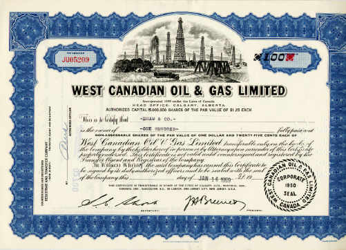 West Canadian Oil & Gas