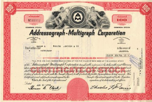 Addressograph-Multigraph Corp.