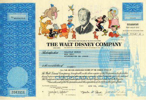 Walt Disney Aktien