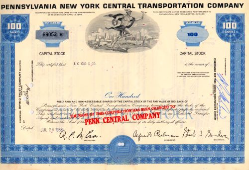 Pennsylvania New York Central Transportation